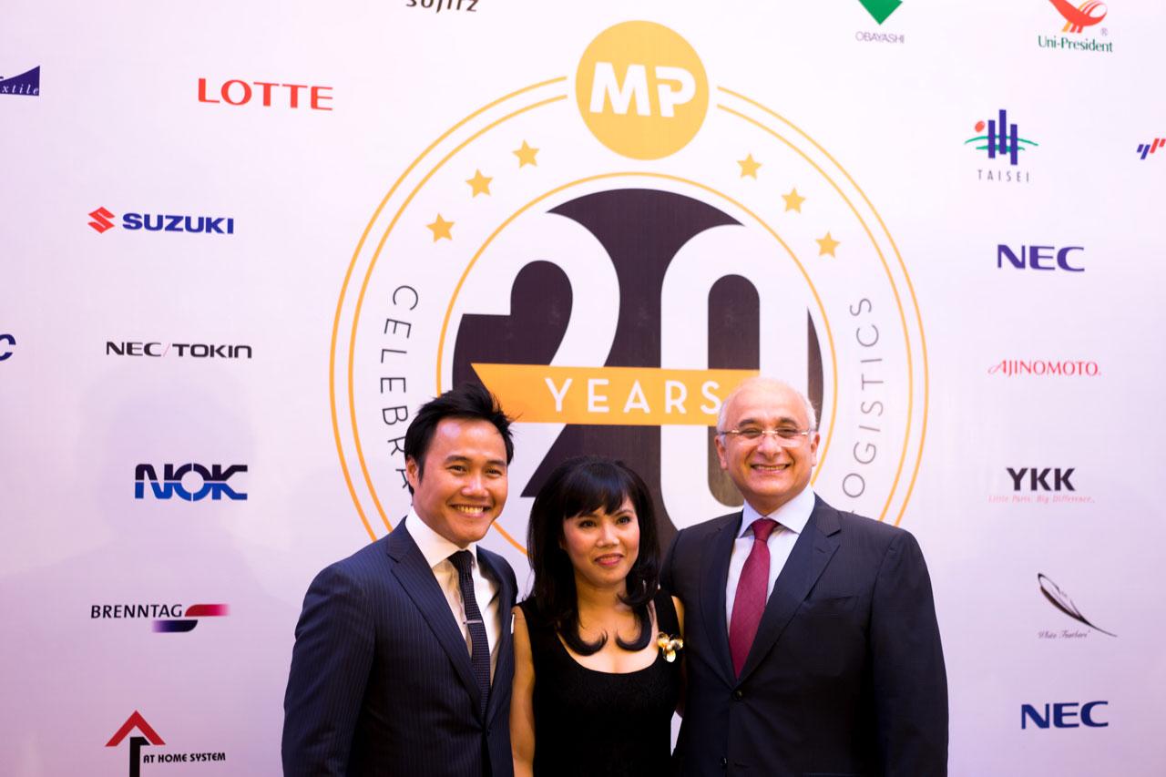 Cuong Dang, Ms Minh Phuong and Sami Kteily